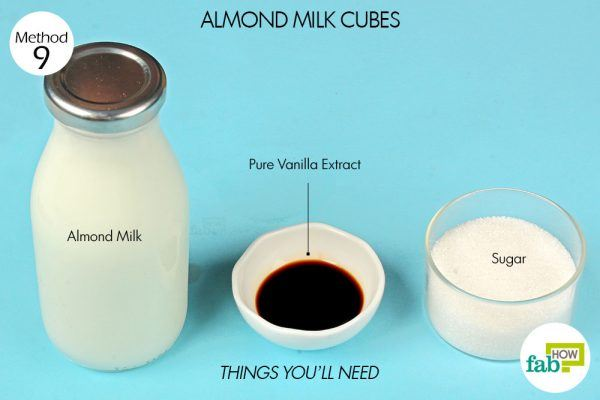 things you'll need for almond milk in ice cube tray hacks