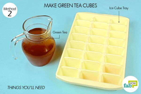 things you'll need for green tea in ice cube tray hacks