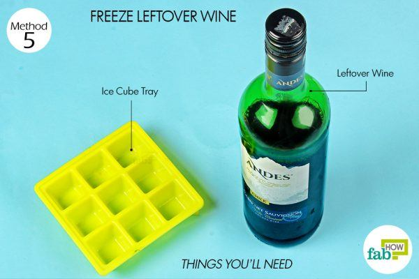 things you'll need for leftover wine in ice cube tray hacks