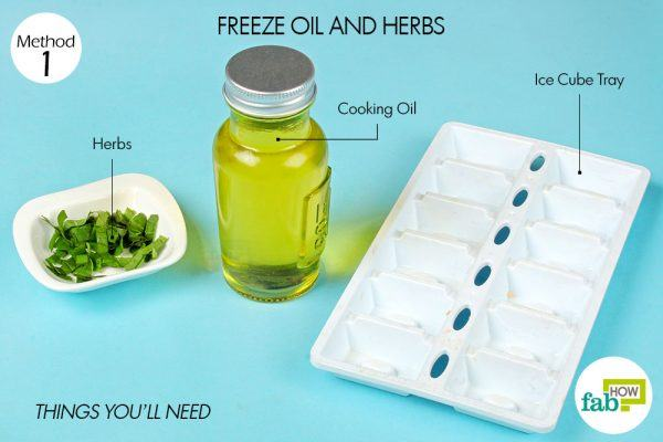 things you'll need in oil and herbs in ice cube tray hacks