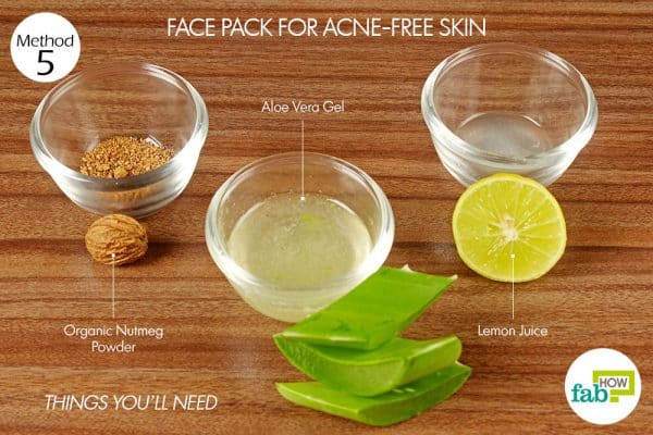 things you'll need for skin care with aloe vera face pack for acne free skin