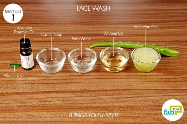 things you'll need for skin care with aloe vera face wash