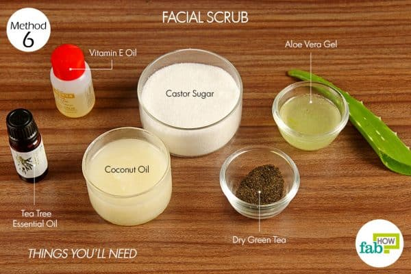 things you'll need for skin care with aloe vera facial scrub