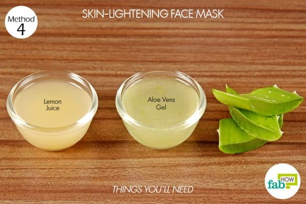 things you'll need for skin care with aloe vera skin lightening mask