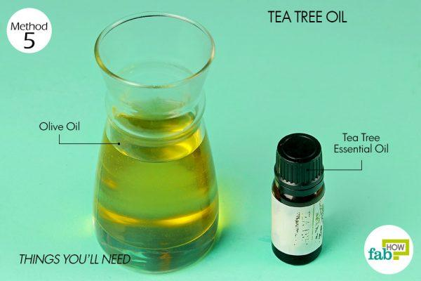 things you'll need to get rid of athlete's foot using tea tree oil