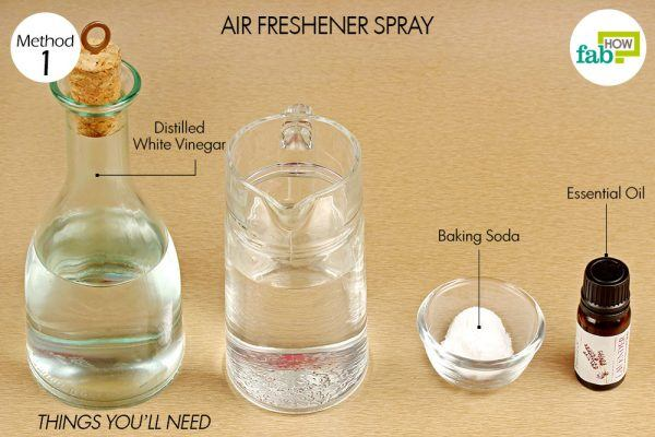things you need how to use vinegar air freshener spray