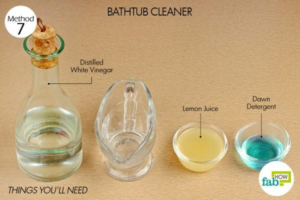things you need how to use vinegar bathtub cleaner