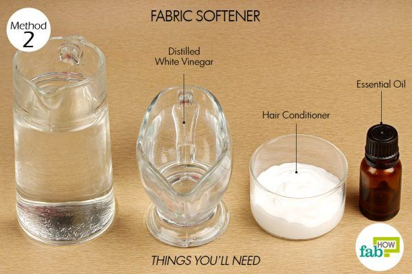 things you need how to use vinegar fabric softener