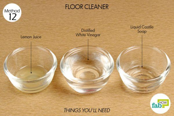 things you need how to use vinegar floor cleaner