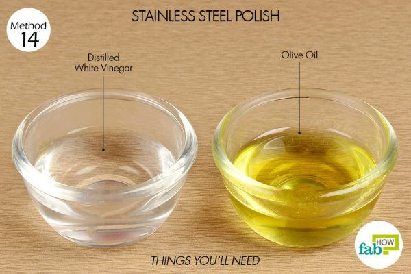 things you need how to use vinegar stainless steel polish