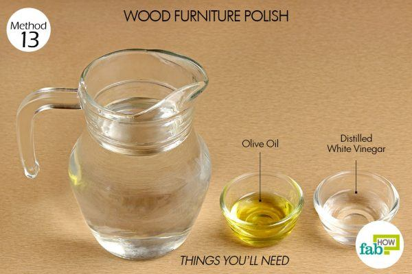 things you need how to use vinegar wood furniture polish
