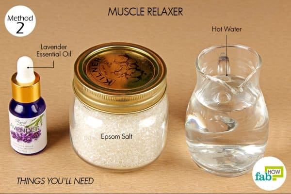 things you'll need to make muscle relaxer with epsom salt