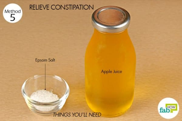 things you'll need to relieve constipation with epsom salt