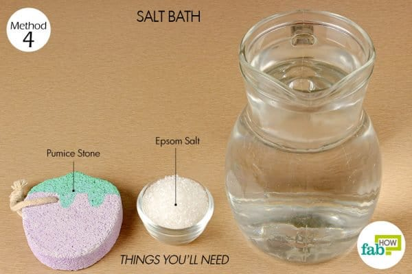 things you'll need to make salt bath with epsom salt