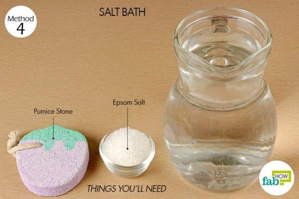 things you'll need to make salt bath with epsom salt