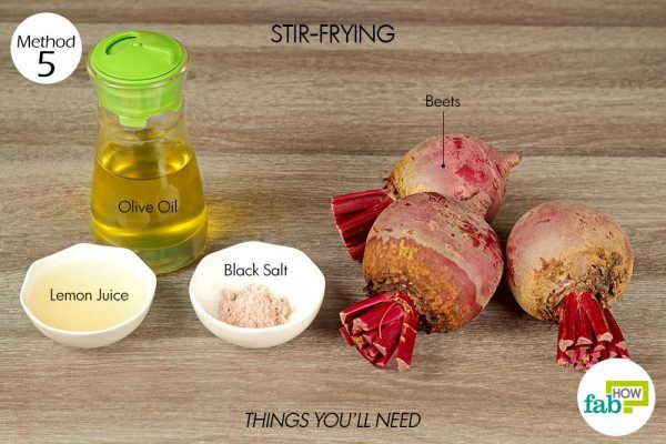 things you'll need to cook beets by stir frying