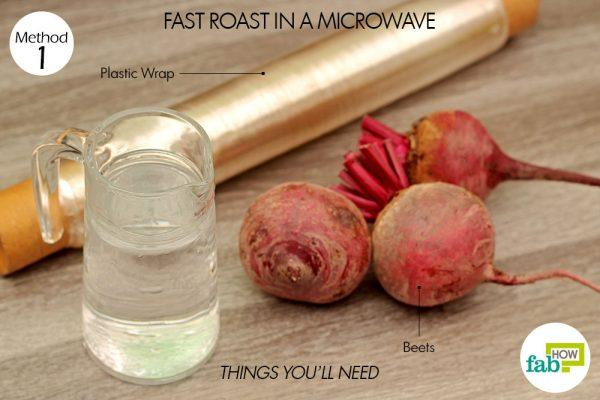 things you'll need to cook beets in microwave