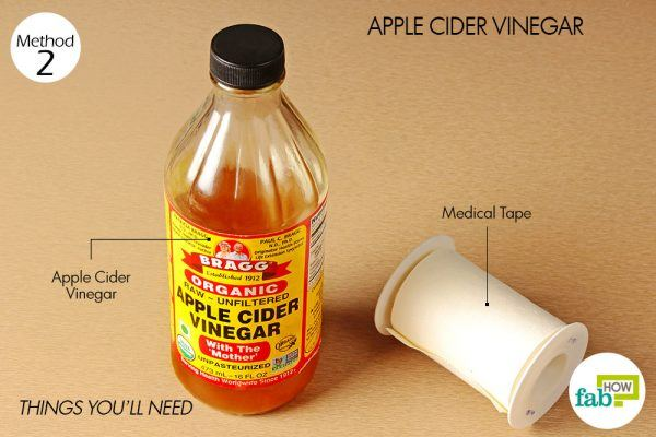 things you'll need to get rid of calluses using apple cider vinegar