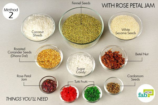 things you'll need to make rose petal jam mouth freshener