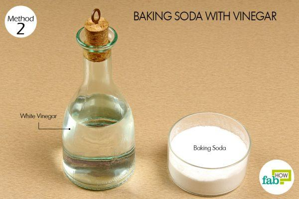 things you'll need using vinegar and baking soda to remove hard water stains