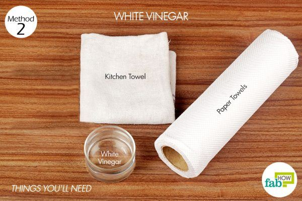 things you'll need for using white vinegar to remove sauce stain from carpet