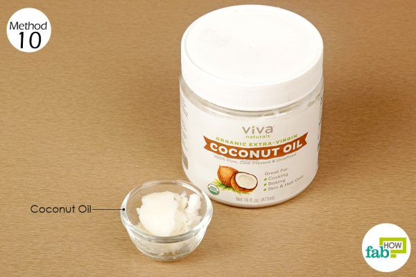 swish coconut oil around the sore