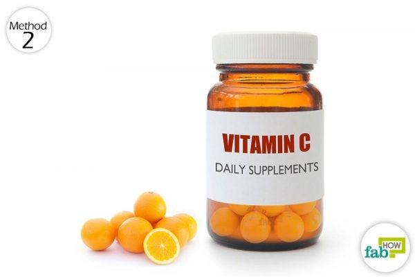 consume vitamin C through food or supplements