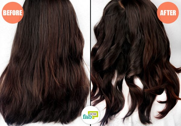 before and after using bobby pins