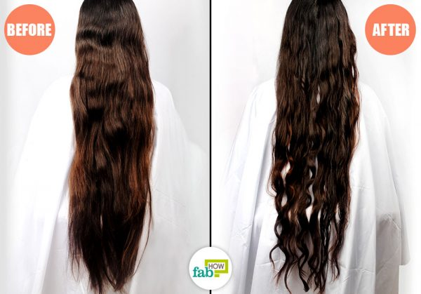 before and after using curler and flexi rods