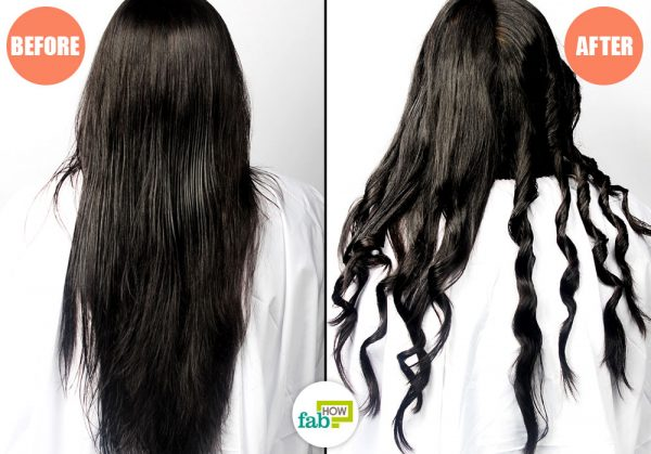 before and after using straightener