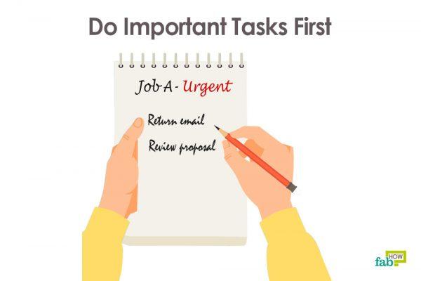 do important task