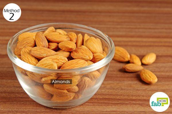 eat almonds to increase your hemoglobin