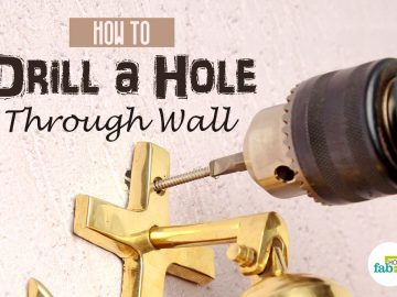 feat-drill hole through wall