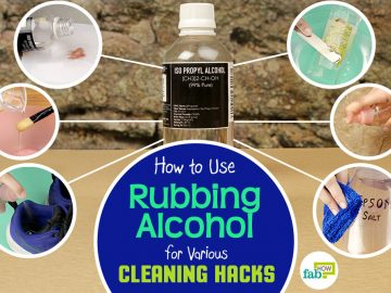 feat use rubbing alcohol for cleaning