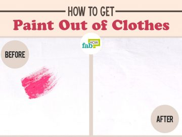 feat how to get paint out of clothes