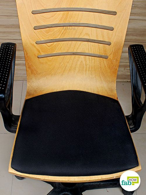 final clean chair fabric with steamer