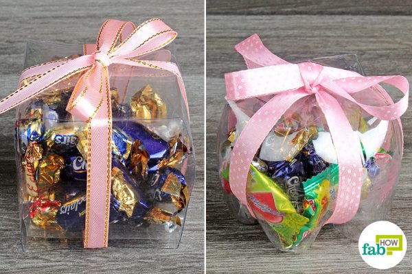 gift boxes made with plastic bottle
