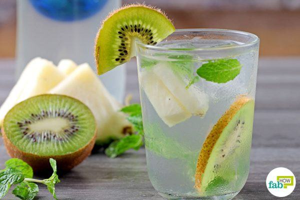 final kiwi and pineapple flavored water