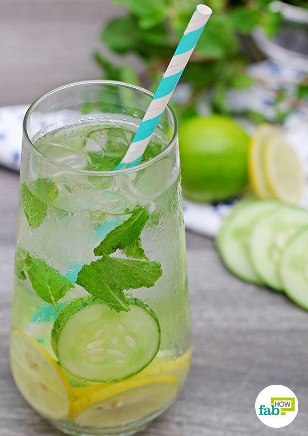 final lemon cucumber mint flavored water