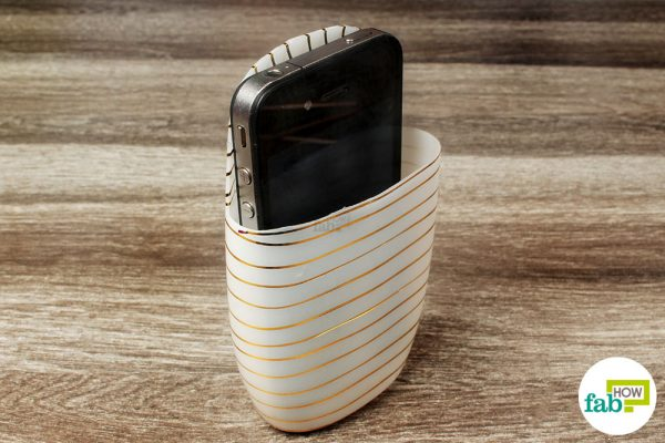 phone case made for charging with plastic bottle