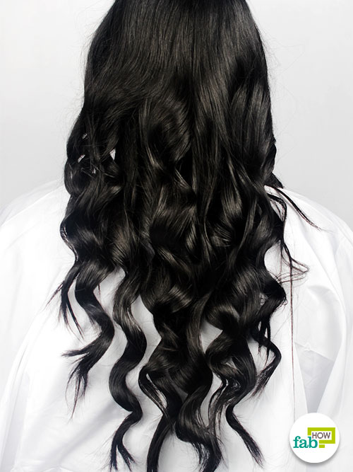 final curl hair with curling wand
