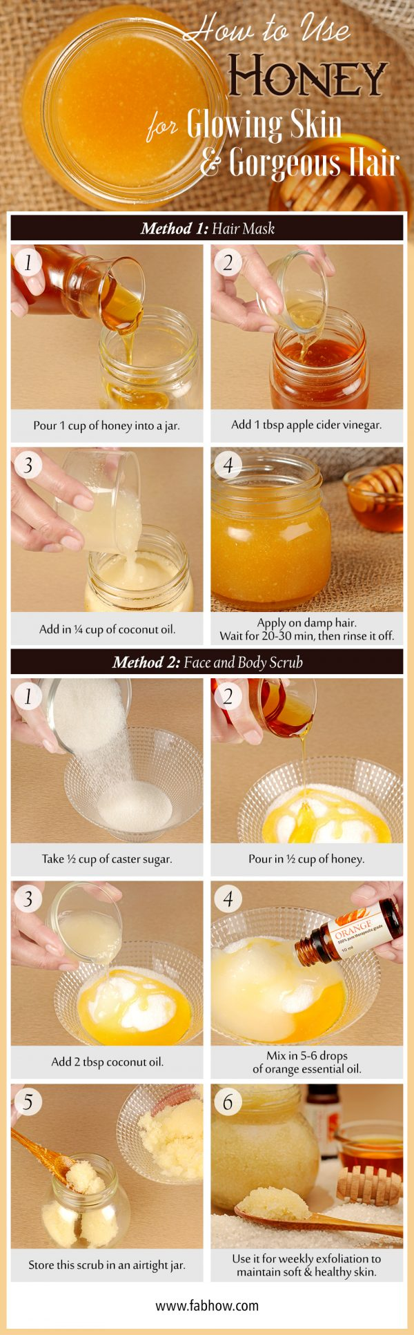 how to use honey for skin and hair summary