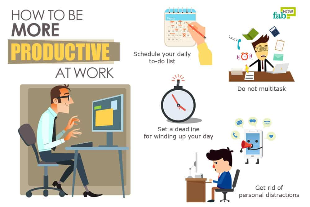 How to Increase Your Productivity at Work By 100% | Fab How