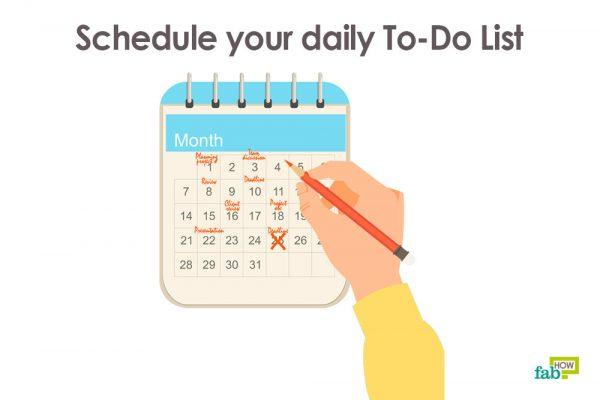 make a schedule