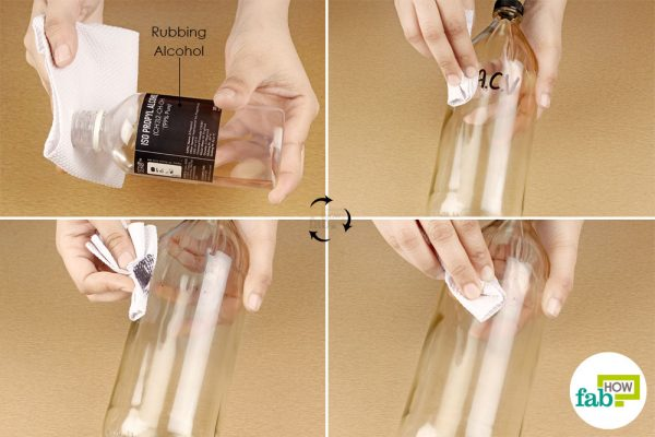 remove the ink stain with rubbing alcohol and paper towel