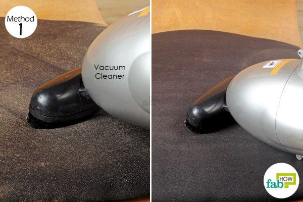 vacuum the chair fabric