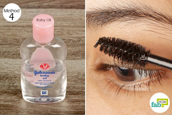 apply baby oil on your eyelashes
