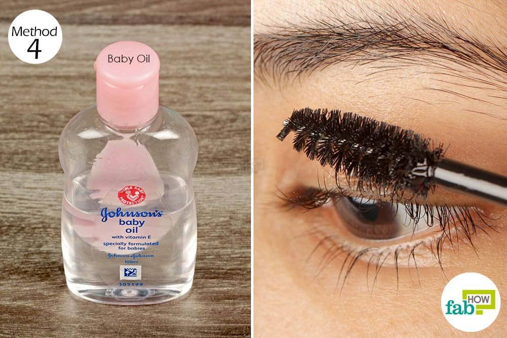 75be7324b4a Single-Step Treatment: Apply baby oil on your eyelashes every night