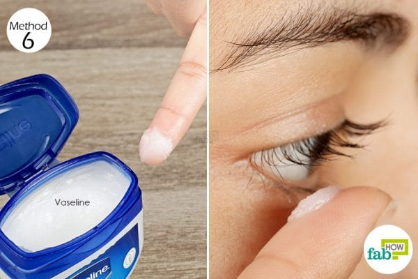 apply vaseline on your eyelashes