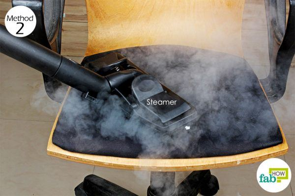 use a steamer to clean the chair fabric